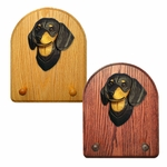 Dachshund smooth Key Rack-Black & Tan