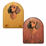 Dachshund smooth Key Rack-Red
