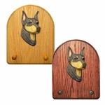 Doberman Key Rack-Red-Tan