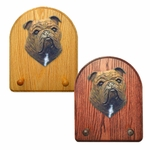 English Bulldog Key Rack-Brindle