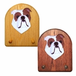 English Bulldog Key Rack-Red