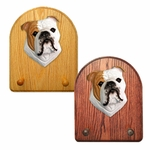 English Bulldog Key Rack-Tan