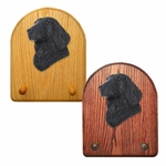 Flat Coated Retriever Key Rack-Black