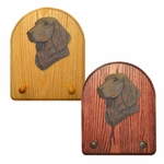 Flat Coated Retriever Key Rack-Brown