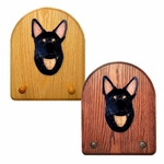 German Shepherd Key Rack-Black w- Tan Points