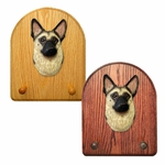 German Shepherd Key Rack-Tan w- Black Saddle