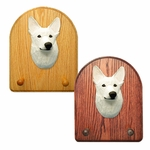 German Shepherd Key Rack-White