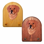 Golden Retriever Key Rack-Dark