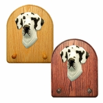 Great Dane natural Key Rack-Harlequin