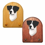 Jack Russell Terrier Key Rack-Black-White