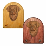 Labrador Retriever Key Rack-Chocolate