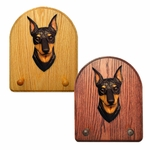 Miniature Pinscher Key Rack-Black-Tan
