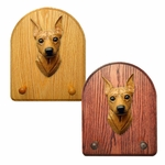 Miniature Pinscher Key Rack-Red