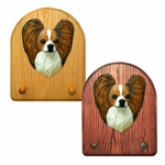 Papillon Key Rack-Brown-White