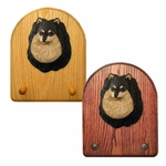 Pomeranian Key Rack-Black-Tan
