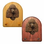 Poodle Key Rack-Brown