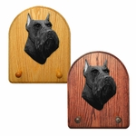 Schnauzer minature Key Rack-Black