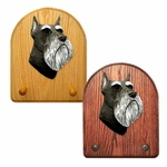 Schnauzer minature Key Rack-Black-Silver