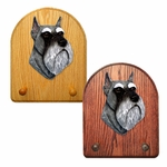 Schnauzer minature Key Rack-Salt-Pepper