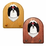 Shih Tzu Key Rack-Black-White