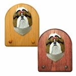 Shih Tzu Key Rack-Brown-White