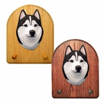 Siberian Husky Key Rack-Black-White