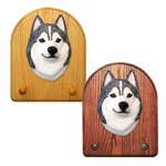 Siberian Husky Key Rack-Grey-White