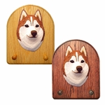 Siberian Husky Key Rack-Red-White