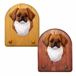 Tibetan Spaniel Key Rack-Red