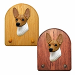 Toy Fox Terrier Key Rack-Red-White
