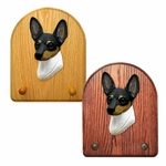 Toy Fox Terrier Key Rack-Tri