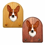 Welsh Corgi pembroke Key Rack-Red