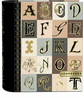 Alphabet Wire-Bound Address Book