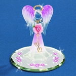 Glass Angel with Rose