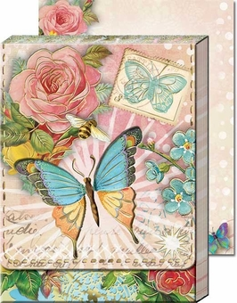 Antique Pastel Butterfly Diecut Pocket Notepad