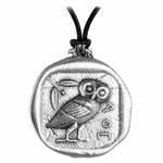 Athena's Owl Necklace