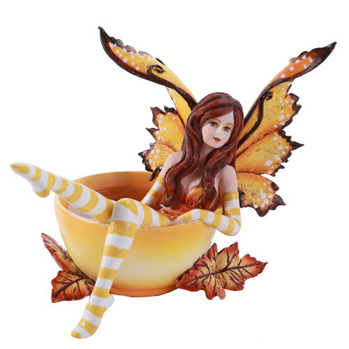 Autumn Cup Fairy By Amy Brown Faery Figurines Collectibles