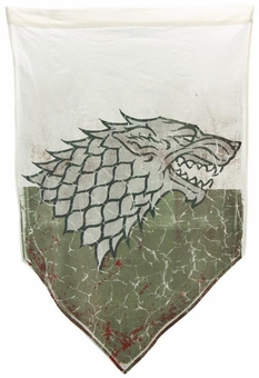 Battleworn Stark Banner - Game of Thrones
