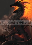 "Belial Dragon Poster by LA Williams (24"" x 36"")"