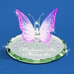 Glass 'Believe' Butterfly