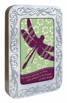 """Believe In Beauty"" Dragonfly Card Tin"