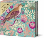 Provencal Bird Compact Mirror with Note Pad