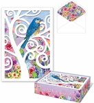 Bird in Tree Die-Cut Note Cards