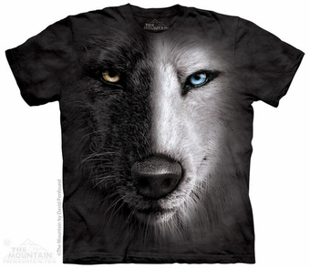 Black & White Wolf Face T-Shirt