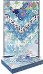 Blue Bouquet Boxed Stationary Set