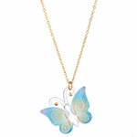 Butterfly Glass Necklace