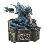 Blue Celtic Dragon Box