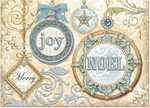 Blue & Gold Ornaments Christmas Cards