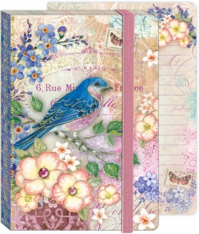 Bluebird Garden Soft Cover Bungee Journal
