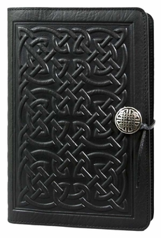 Bold Celtic Leather Journal by Oberon Design: FairyGlen.com
